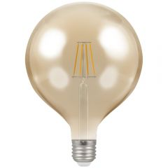 Crompton 4313 CROMPTON 7.5W LED FILAMENT ES 125MM GLOBE A/BRONZE DIMMABLE