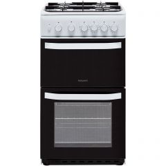 Hotpoint HD5G00KCW Gas Cooker With Full Width Gas Grill