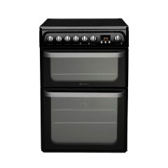 Hotpoint HUE61K Double Electric Oven 60Cm