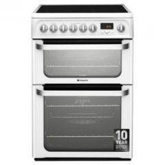 Hotpoint HUE62PS 60Cm Ceramic Electric Double Oven