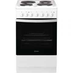 Indesit IS5E4KHW Fs Cooker Std Elec Single
