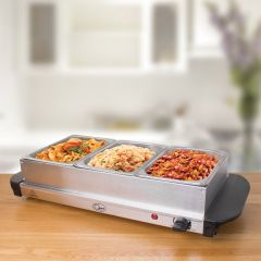 Quest 16520 Compact Buffet Server + Warming Tray