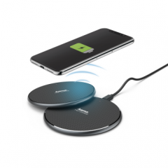 Hama 00188321 Wireless Charger Qi-Fc10, 10W, 2Pack Black
