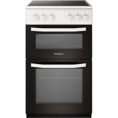 Hotpoint HD5V92KCW 50Cm Electric Twin Cooker With Ceramic Radiant Hob