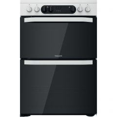 Hotpoint HDM67V9CMW 60Cm Electric Double Cooker Multiflow Main Double White