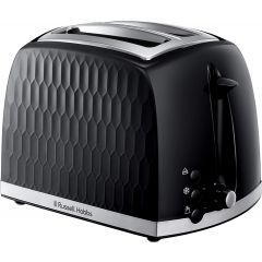 Russell Hobbs 26061 2 Slice Black Honeycomb Collection Toaster