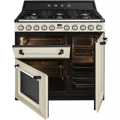 Smeg TR93P 90Cm Victoria Cream, Dual Fuel, Traditional Cooker